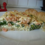Asparagus and Salmon Quiche