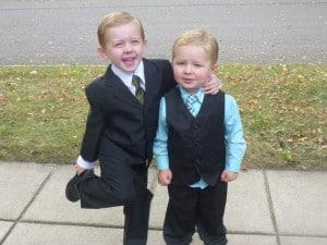 Aiden and Mason
