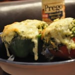 Stuffed Peppers and Tomatoes with Prego Homestyle Alfredo