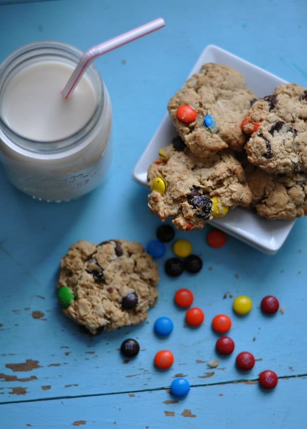 Monster Cookies and Milk