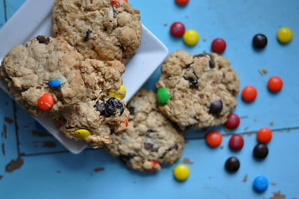 Monster Cookies with M and M candies