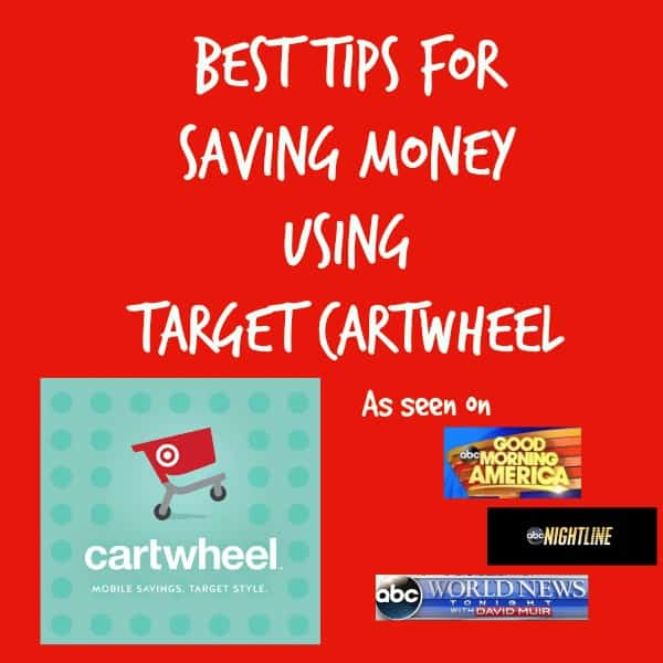 Best Tips for Saving Money Using Target Cartwheel from parenting blogger and TV chef, Alice Seuffert. Tips have appeared on Good Morning America, World News Tonight and Nightline News.