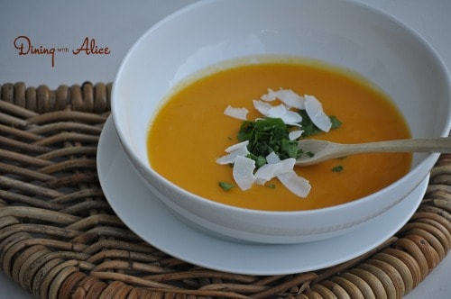 Butternut Squash Soup with Garnish