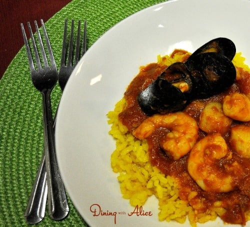 Fra Diavolo with Risotto