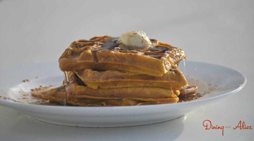 Pumpkin Waffles with signature