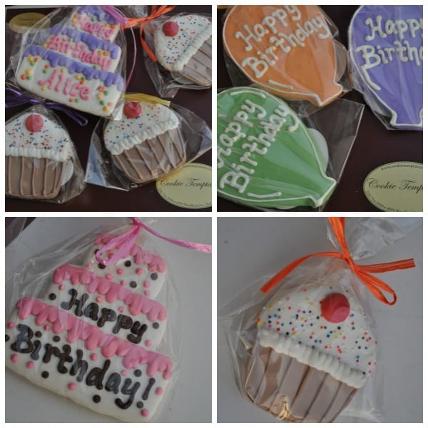 Cookie Temptations Birthday Cookies Collage