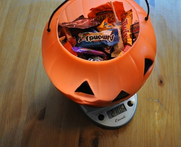 Weighed Halloween Candy