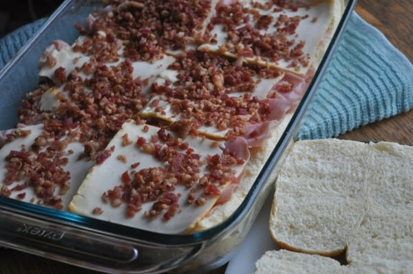 Baked-Ham-Sandwiches-Bacon