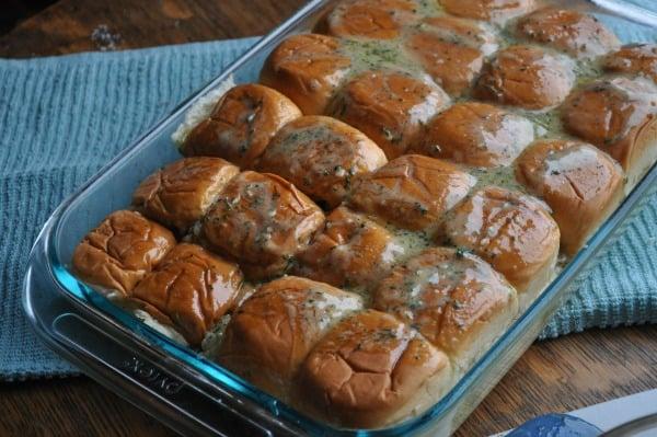 Baked-Ham-Sandwiches-Butter
