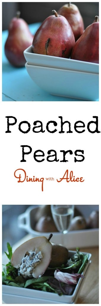 Poached Pears Dining with Alice