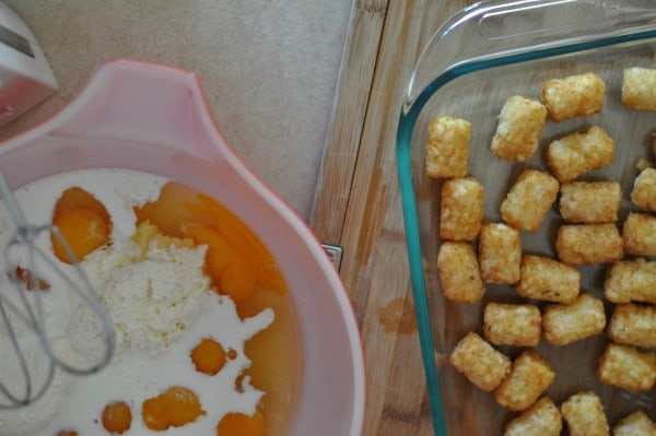 Tater Tot Egg Bake ingredients