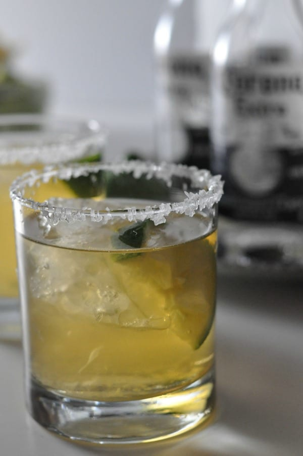 Beergaritas with empty bottles