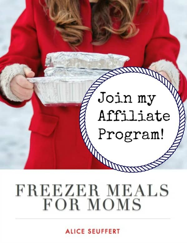 Affiliate Program Freezer Meals for Moms Cover