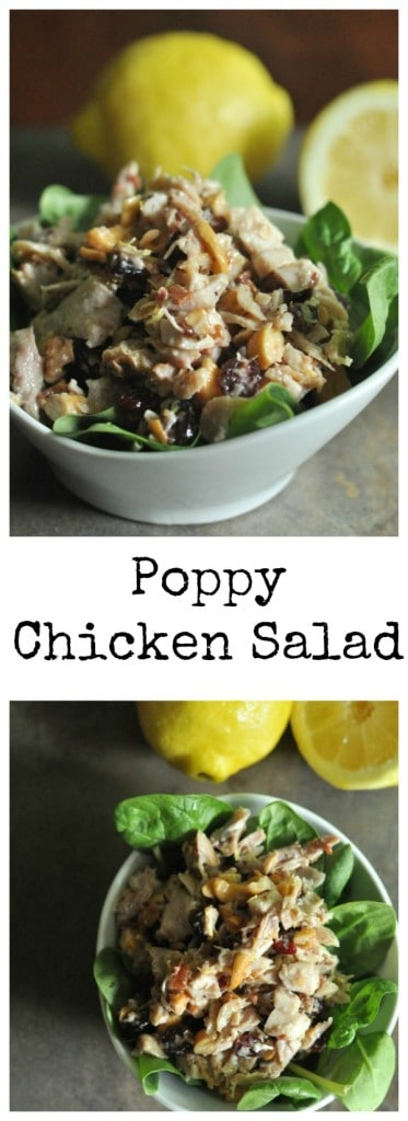 No Cook Poppy Chicken Salad #chicken #chickensalad