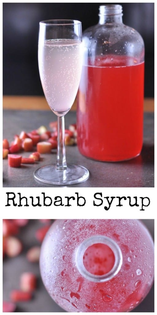 A super simple recipe for making your own sweet Rhubarb Syrup.