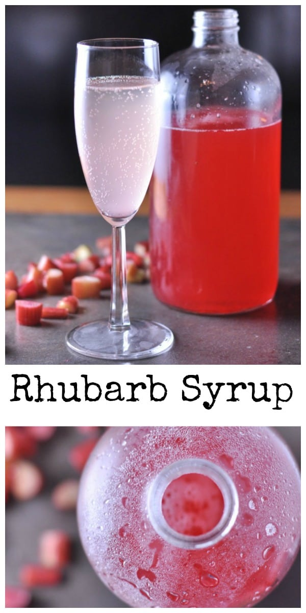 Rhubarb Syrup - Dining with Alice