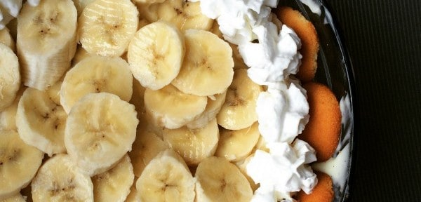 No Bake Banana Cream Pie Bowl