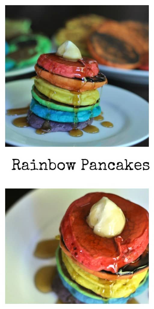 Rainbow Pancakes a simple and fun recipe to make with your kids.