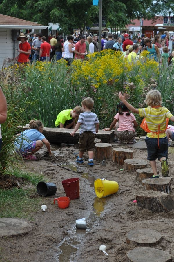 Food and Kids Activities at MN State Fair Nature Adventure Play Area 2