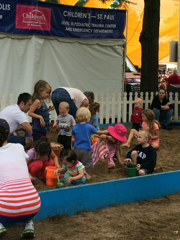 Food and Kids Activities at MN State Fair Sandbox