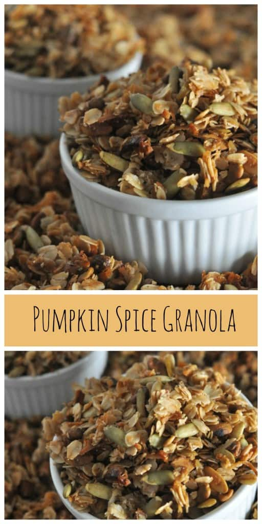 Filled with the flavors of fall, Pumpkin Spice Granola is simple and filled with pumpkin seeds, pumpkin spice and sweet honey.