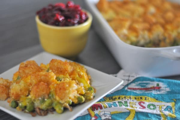Leftover Turkey Tater Tot Hotdish Minnesota
