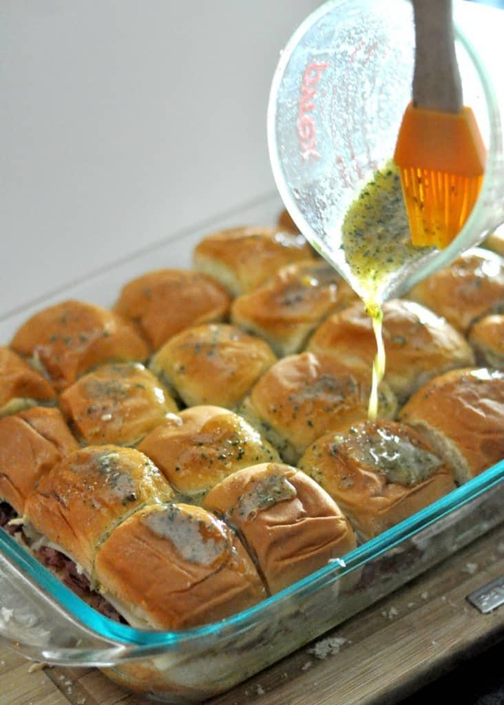 Baked Reuben Sandwiches Butter Sauce
