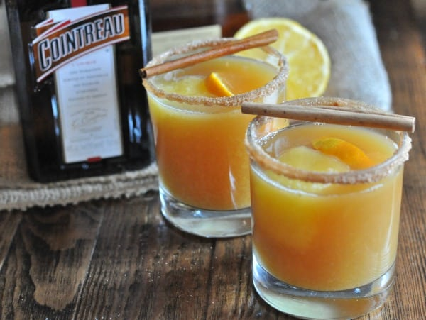 This Hot Bourbon Cider Cocktail recipe made with apple cider and Cointreau is the perfect drink for a cozy night or the holidays.