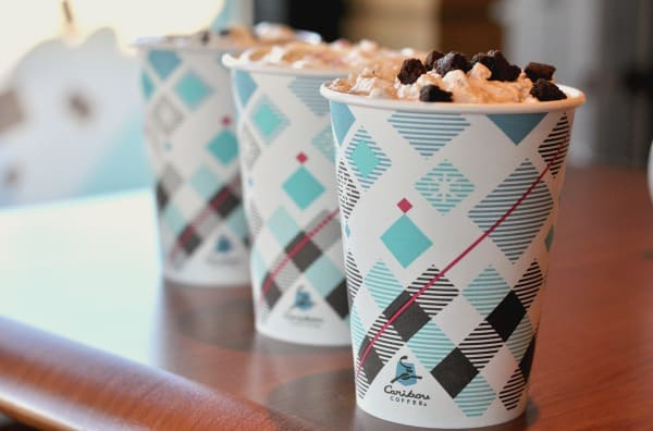 The 2016 Caribou Coffee holiday drinks are topped by you! Pick your favorite coffee, whip and topping! Try my favorite, the Cozy Candy Cane Hazelnut Mocha.