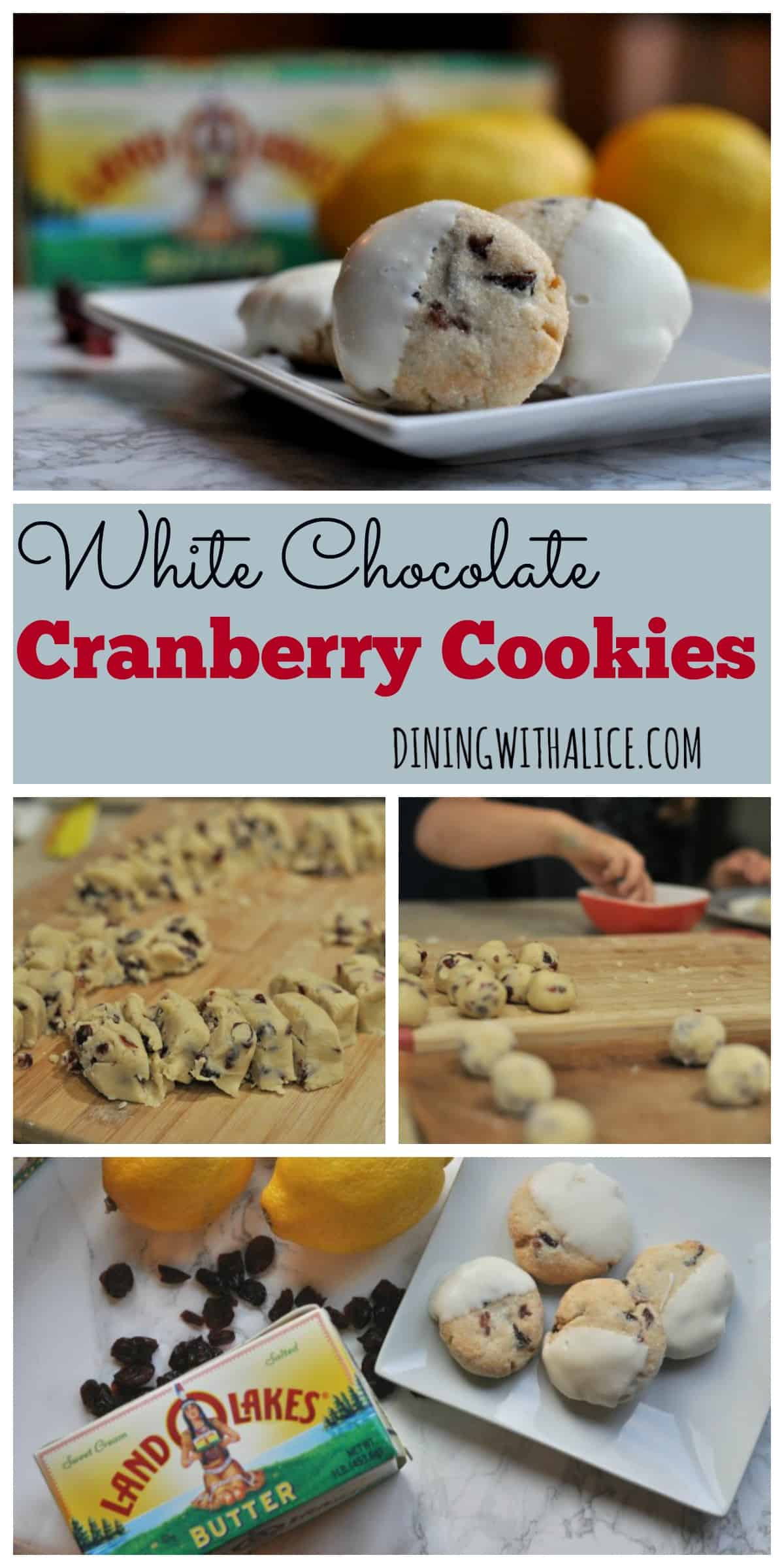 White Chocolate Cranberry Cookies - Dining with Alice