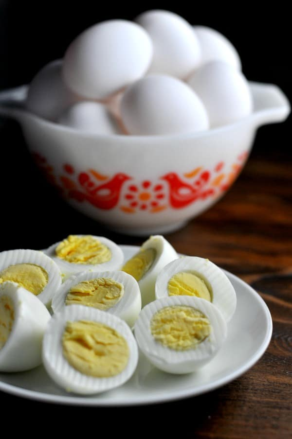 Instant Pot Hard Boiled Eggs Easy Recipe Dozen Eggs A simple recipe for making Instant Pot hard boiled eggs. It's an easy way to make big batches of hard boiled eggs and help with meal planning. This easy recipe makes delicious hard boiled eggs perfect for breakfast, lunch or to use in your favorite Egg Salad or Deviled Egg recipes. http://diningwithalice.com/instant-pot/instant-pot-hard-boiled-eggs/