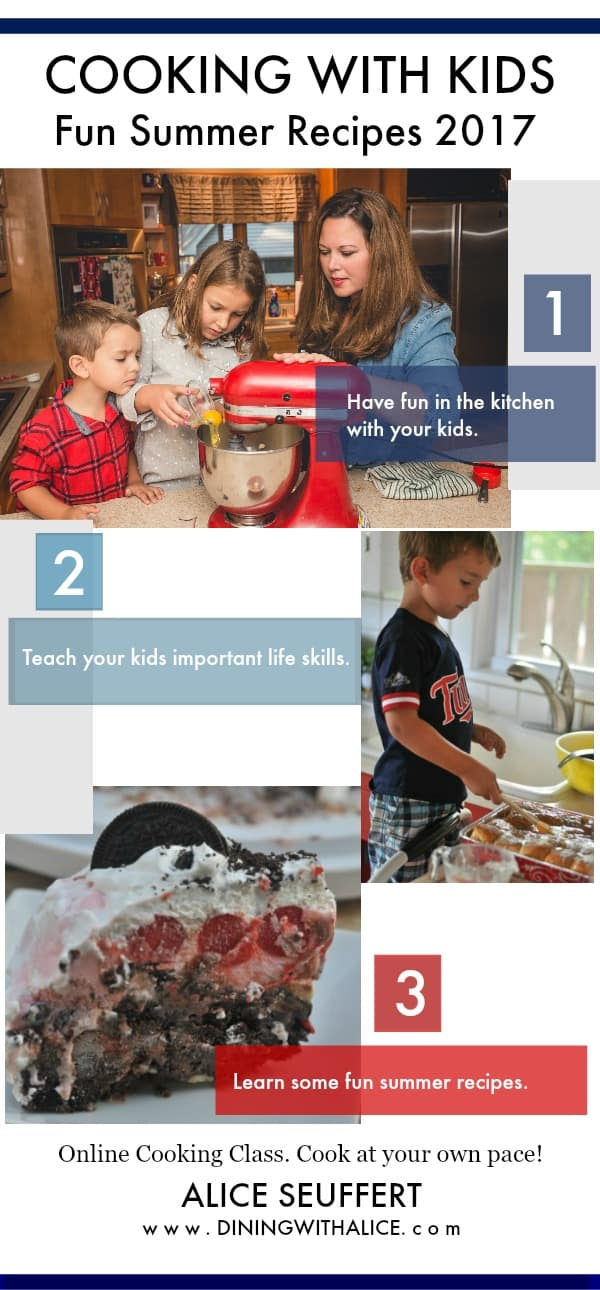 Cooking with Kids Summer Recipes 2017