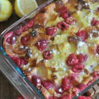 Lemon Raspberry French Toast Bake