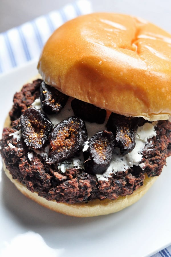 Mushroom and Beet Black Bean Burger figs