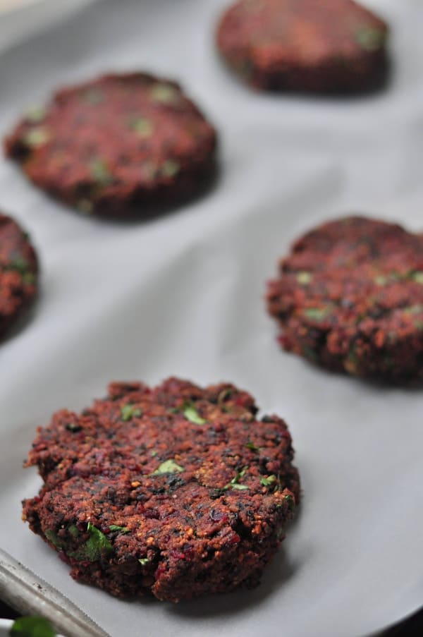 Mushroom and Beet Black Bean Burger how to